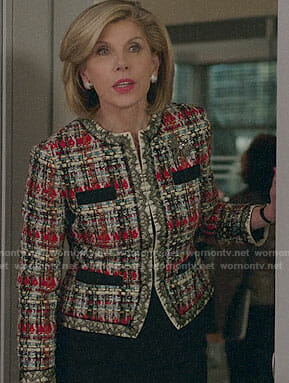 Diane's tweed jacket on The Good Fight