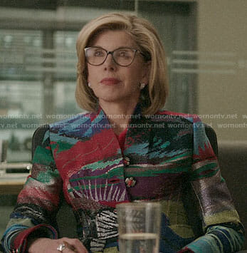 Diane's colorful jacket on The Good Fight