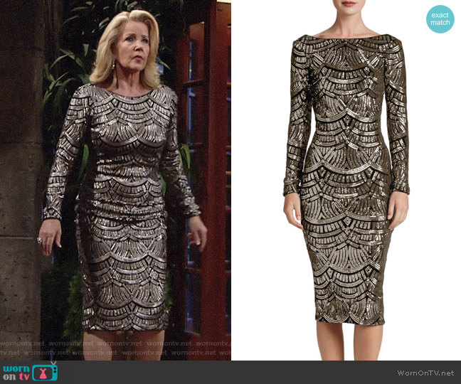 Dress The Population Emery Dress worn by Nikki Reed Newman (Melody Thomas-Scott) on The Young & the Restless