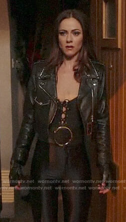 Princess Eleanor's studded leather jacket on The Royals