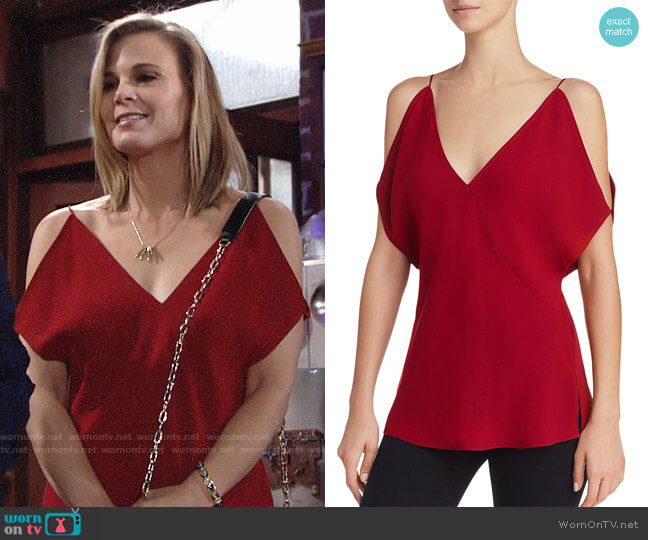 Elizabeth and James Arimah Top worn by Gina Tognoni on The Young & the Restless