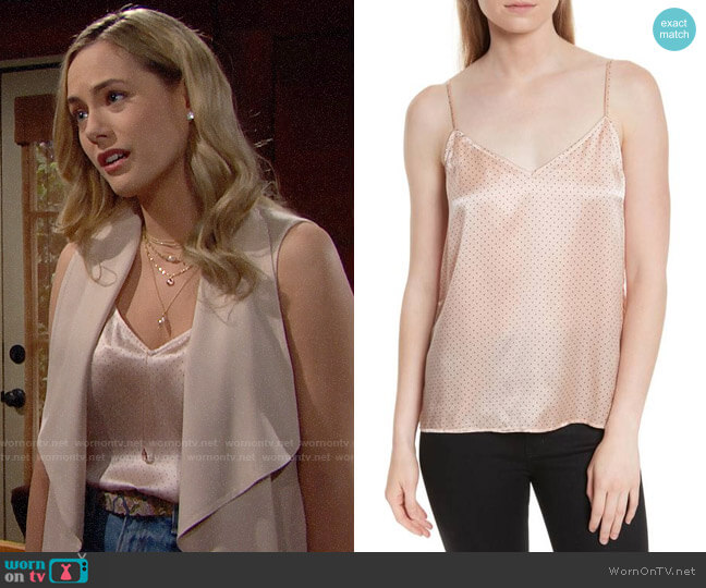 Equipment Layla Top in French Nude worn by Hope Logan (Annika Noelle) on The Bold & the Beautiful