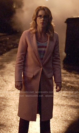 Felicity's pink coat on Arrow