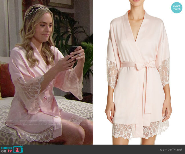 Flora Nikrooz Gabby Kimono Robe worn by Hope Logan (Annika Noelle) on The Bold & the Beautiful