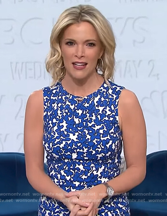 Megyn's floral print sheath dress on Megyn Kelly Today