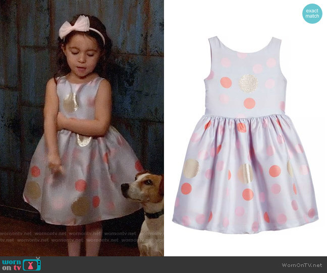 Frais Metallic Polka Dot Dress worn by Danielle Rockoff on New Girl