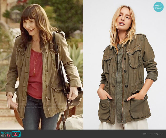Free People Not Your Brother's Surplus Jacket worn by Mary Steenburgen on Last Man On Earth