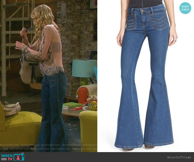 Free People Stella Super Flare Jeans worn by Olivia Rose Keegan on Days of our Lives
