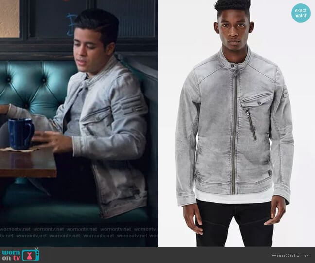 Revend 3D Slim Jacket by G-Star Raw worn by Christian Navarro on 13 Reasons Why