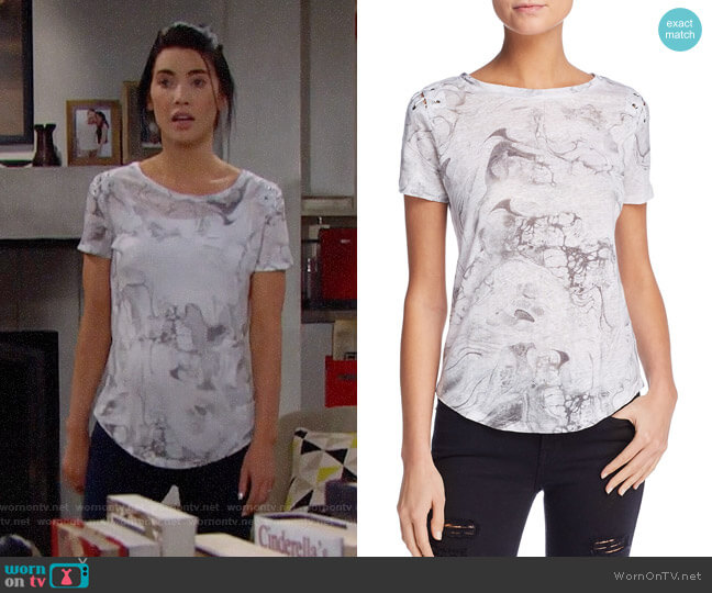 Generation Love Graham Tee worn by Steffy Forrester (Jacqueline MacInnes Wood) on The Bold & the Beautiful