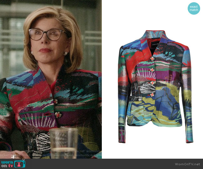 Giorgio Armani Blazer worn by Diane Lockhart (Christine Baranski) on The Good Fight