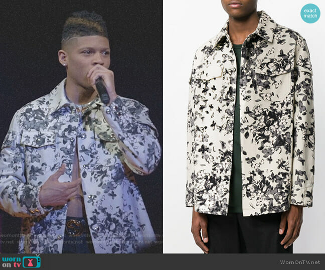 Floral Shirt Jacket by Givenchy worn by Hakeem Lyon (Bryshere Y. Gray) on Empire