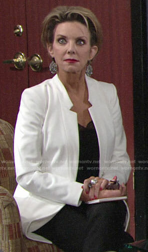 Gloria's white jacket on The Young and the Restless