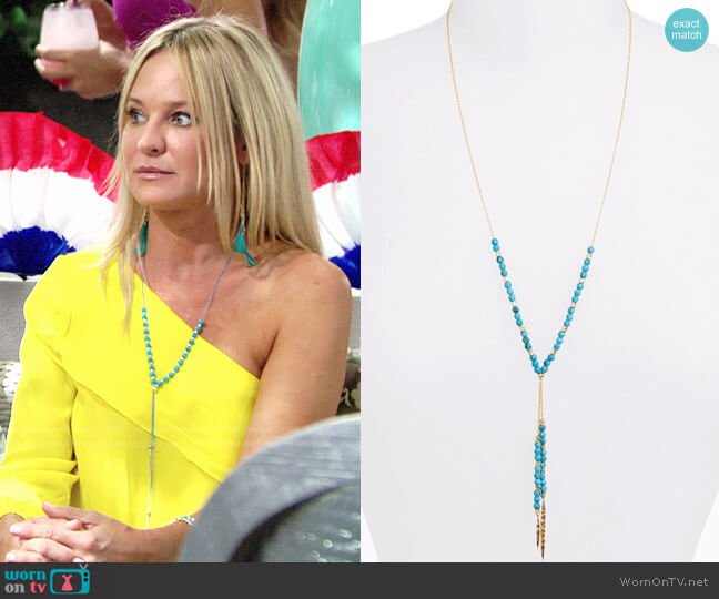 Gorjana Power Turquoise Necklace worn by Sharon Case on The Young & the Restless