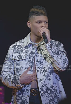 Hakeem's white floral jacket on Empire