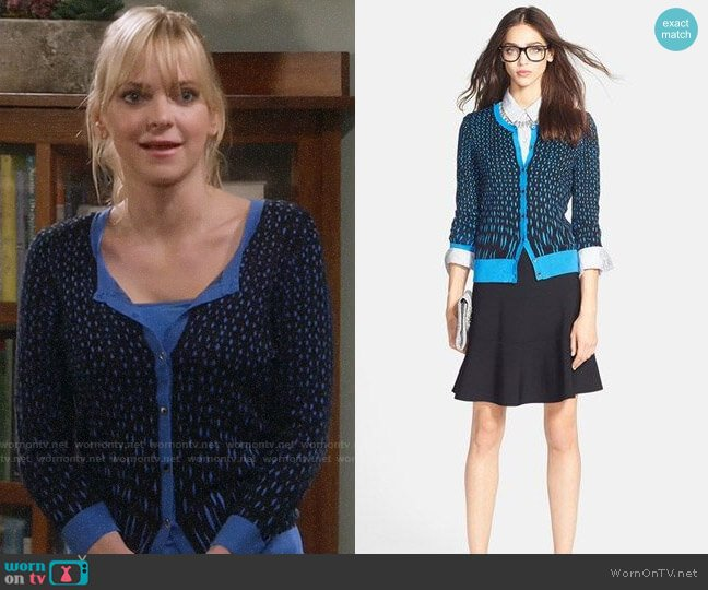 Halogen Three Quarter Sleeve Cardigan worn by Christy Plunkett (Anna Faris) on Mom