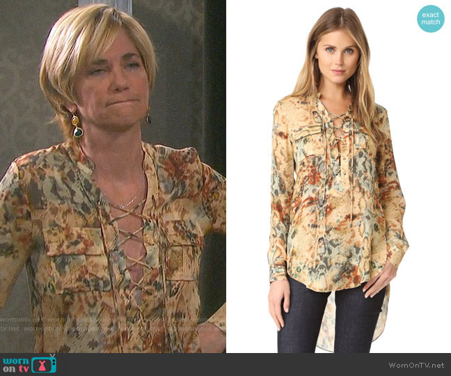 Haute Hippie Hellfire Top worn by Eve Donovan (Kassie DePaiva) on Days of our Lives