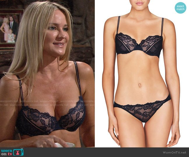 Heidi Klum Intimates Petunia Passion Contour Demi Bra worn by Sharon Case on The Young & the Restless