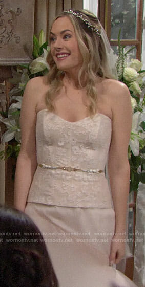 Hope's wedding dress on The Bold and the Beautiful