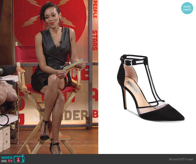 INC International Concepts Kaeley T-Strap Pumps worn by Hilary Curtis (Mishael Morgan) on The Young & the Restless