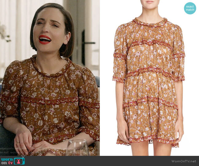 Isabel Marant Etoile Maiwenn Dress worn by Zoe Lister-Jones on Life in Pieces