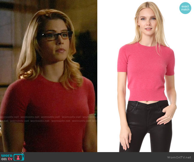 J Brand Briony Sweater worn by Emily Bett Rickards on Arrow