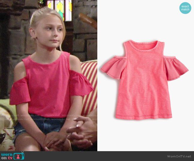J. Crew Cold Shoulder Top worn by Alyvia Alyn Lind on The Young & the Restless