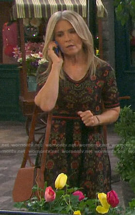 Jennifer's floral short sleeved dress on Days of our Lives