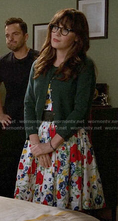Jess's floral dress on New Girl