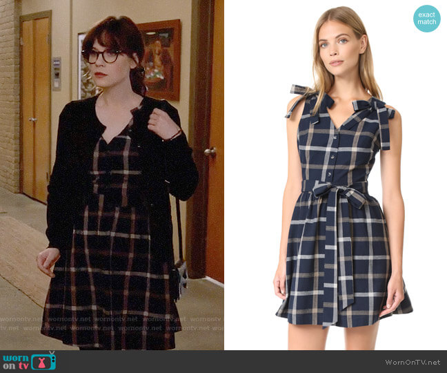 JOA Plaid Dress worn by Jessica Day (Zooey Deschanel) on New Girl