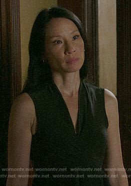 Joan's black wraparound dress on Elementary