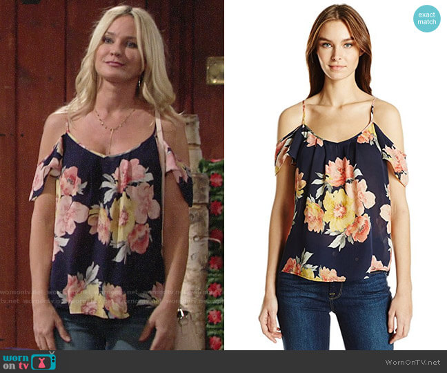 Joie Adorlee Blouse worn by Sharon Collins (Sharon Case) on The Young & the Restless