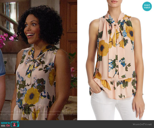 Joie Estero Top worn by Karla Mosley on The Bold & the Beautiful