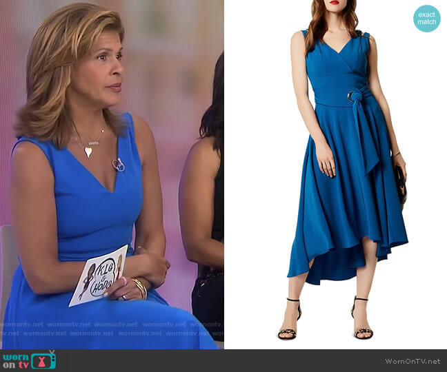 Belted Fluid Midi Dress by Karen Millen worn by Hoda Kotb  on Today