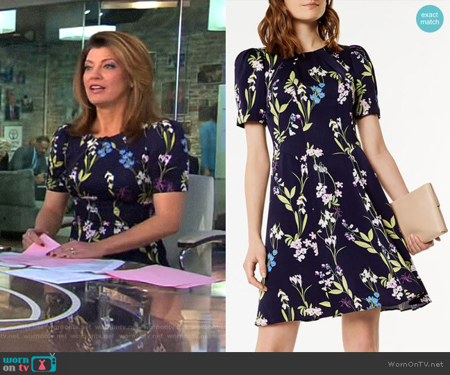 Floral Print Dress by Karen Millen worn by Norah O'Donnell on CBS This Morning