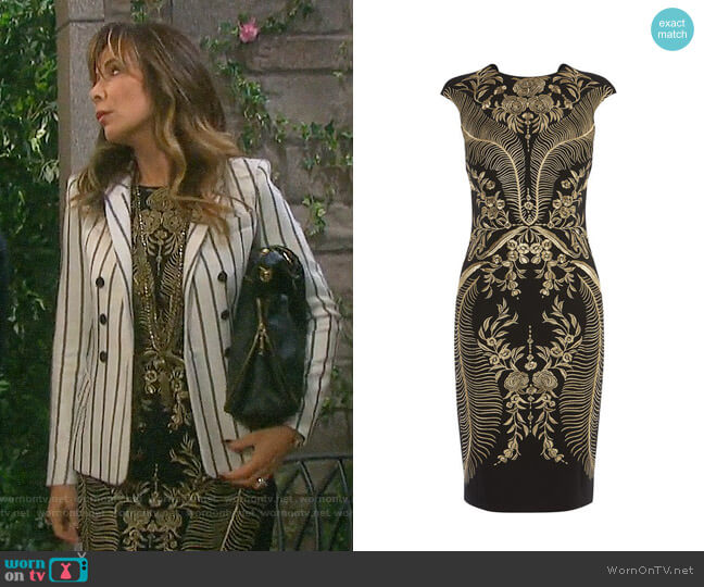 Karen Millen Embroidered Mini Dress worn by Kate Roberts (Lauren Koslow) on Days of our Lives