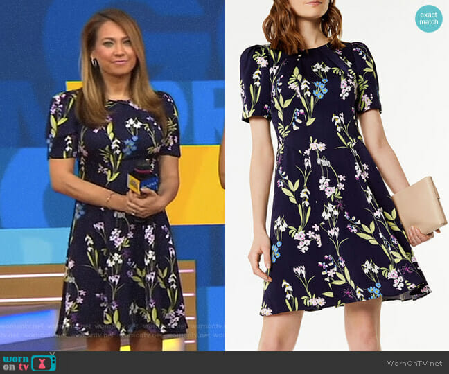 Floral Print Dress by Karen Millen worn by Ginger Zee (Ginger Zee) on Good Morning America