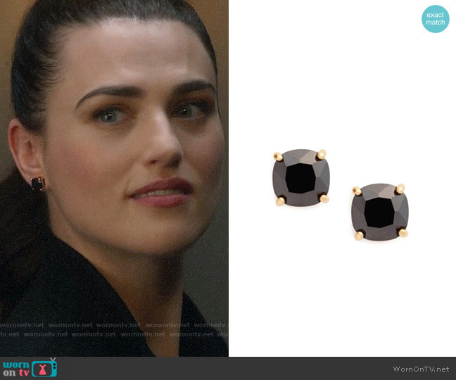 Kate Spade Mini Square Stud Earrings worn by Katie McGrath on Supergirl