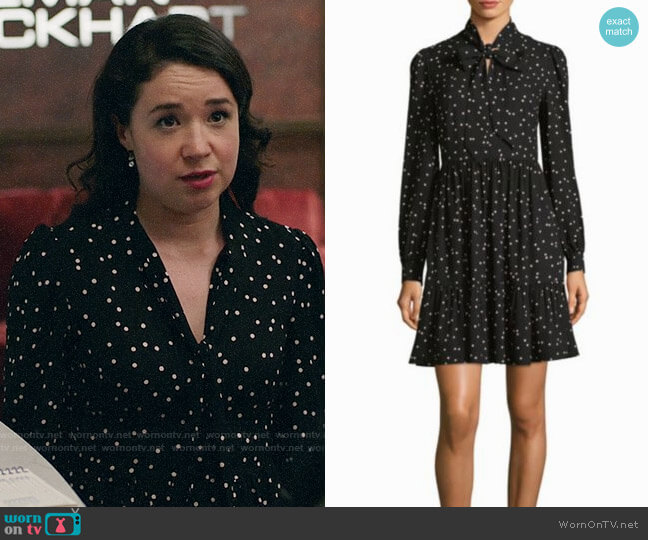 Kate Spade Polka Dot Shirtdress worn by Sarah Steele on The Good Fight
