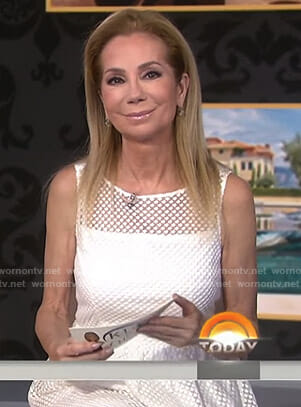 Kathie's white textured dress on Today