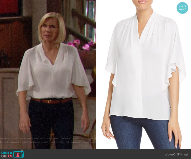 Kobi Halperin Carin Blouse worn by Brooke Logan (Katherine Kelly Lang) on The Bold & the Beautiful