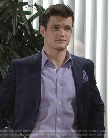Kyle's blue plaid blazer on The Young and the Restless