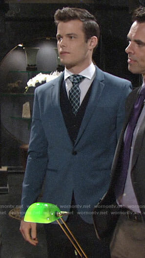 Kyle's blue suit jacket on The Young and the Restless