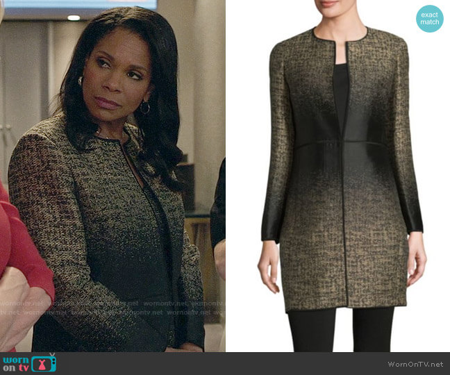 Lafayette 148 New York Erin Equinox Jacquard Jacket worn by Liz Reddick-Lawrence (Audra McDonald) on The Good Fight