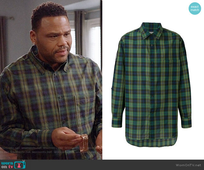 Lanvin Casual Checked Shirt worn by Anthony Anderson on Blackish