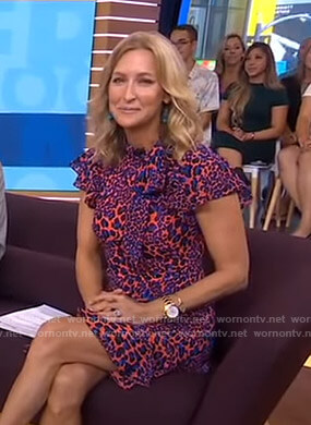 Lara's ruffled leopard print dress on Good Morning America
