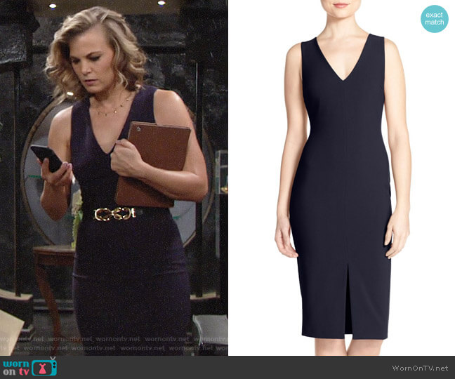 Likely Park Dress in Navy worn by Phyllis Newman (Gina Tognoni) on The Young & the Restless