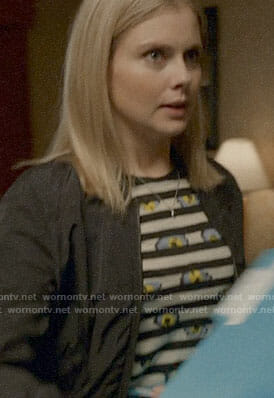 Liv's stripe and flower print top on iZombie
