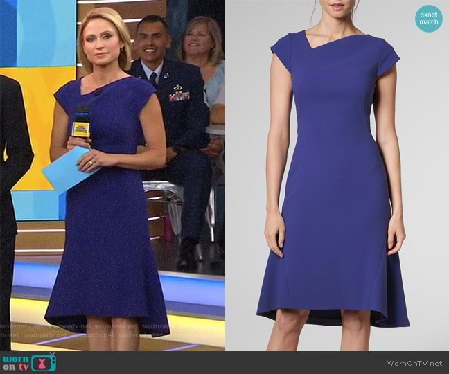 'Ire' Dress by LK Bennett worn by Amy Robach on Good Morning America