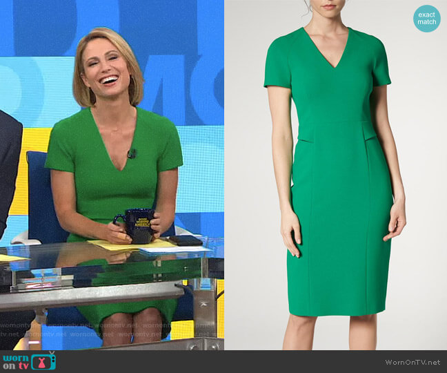 'Bessa' Dress by LK Bennett worn by Amy Robach  on Good Morning America